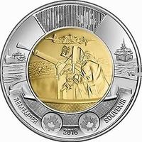 Битва за Атлантику - Канада 2016, 2 доллара