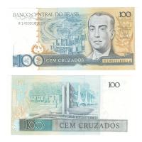 Бразилия 100 крузадо 1987 год