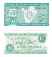 Бурунди | 10 франков | 2007 год