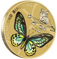 "Монета ""Бабочка Richmond Birdwing"" в конверте"