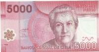 Чили, 5000 песо, 2009 год. Полимер