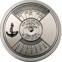 "Монета ""Морской календарь на 50 лет"" - Конго"