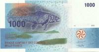 Коморские острова, 1000 франков, 2005 год
