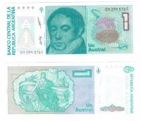 Аргентина 1 аустрал 1985-1989 гг