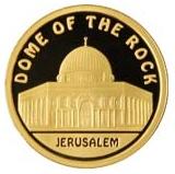 """Золотая монета """"Мечеть DOME OF THE ROCK"""" (Купол скалы)"""