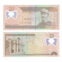 Доминикана 20 песо 2009 год (полимер)
