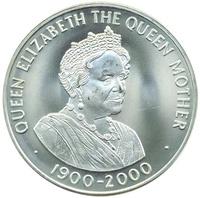 о.Святой Елены 50 пенсов 2000, Елизавета Королева-Мать