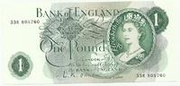 Англия, 1 фунт, 1966-1970 гг, UNC