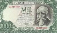 Испания, 1000 песет, 1971 год