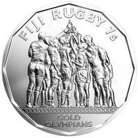 Регби. Золотая медаль на Олимпийских играх в Рио-де-Жанейро - Фиджи, 50 центов, 2017
