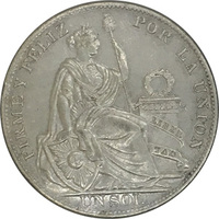 Перу, 1 соль, 1935 год, серебро