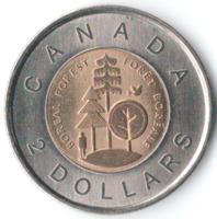Тайга - Бореальные леса Канады - 2 доллара, 2011 год