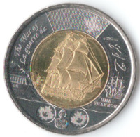 Фрегат Шеннон, Война 1812 года - Канада, 2 доллара, 2012 год