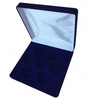 Коробка бархатная на 7 монет в капсулах (диаметр 46 мм)