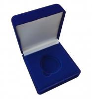 Бархатная коробка для 1 монеты (диаметр капсулы до 44мм)