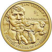 Джим Торп - Сакагавея, США 1 доллар, 2018 год