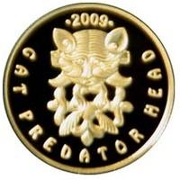 """Золотая монета """"Кошачий хищник с оленями"""" 0,5 грамм"""