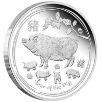 Год свиньи (год кабана) - Лунный календарь, Австралия 1/2oz