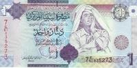 Ливия, 1 динар, 2009 год. Муаммар Каддафи