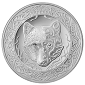 Небесный волк Кокбори (Көкборі) - 100 тенге, мельхиор в блистере