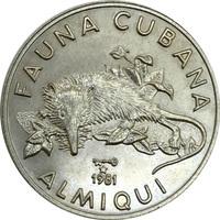 Куба, 1981 год, 1 песо - Щелезуб (Almiqui)