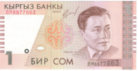 Киргизия, номинал 1 сом, 1999 год