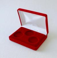 Бархатная подарочная коробка для 3-х монет (под диаметр капсул 46 мм)