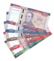 Полный набор банкнот Либерии 2016 года
