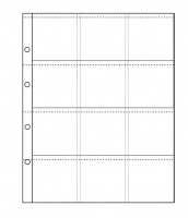 Лист для холдеров на 12 ячеек (формат Optima)