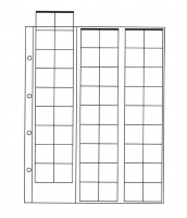 Лист для монет на 54 ячейки (24х25 мм, формат Optima)