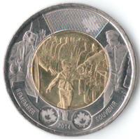 75 лет с начала Второй мировой войны - Канада, 2 доллара, 2014 год