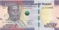 Нигерия, 100 наира, 2014 год. Юбилейная