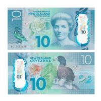 Новая Зеландия 10 долларов 2015 год (полимер)