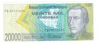 Никарагуа 20 000 кордоба 1989 год
