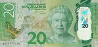Новая Зеландия, 20 долларов, 2016 год, полимер