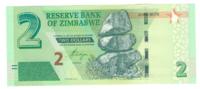 Зимбабве, номинал 2 доллара, 2016 год
