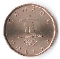Олимпийские игры 2010, Эмблема - Канада, 1 доллар, 2010 год