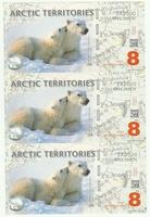 Арктика, 8 долларов, полимер. Тройная банкнота.