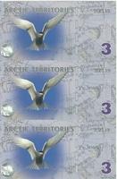 Арктика, 3 доллара, полимер. Тройная банкнота.