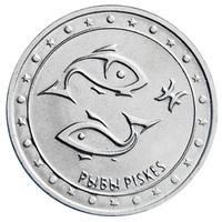 Знак зодиака. Рыбы - Приднестровье, 1 рубль, 2016 год