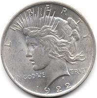 Серебряный доллар 1$ - Мирный доллар. Peace