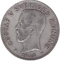 Швеция, 2 кроны, Густав V 1913