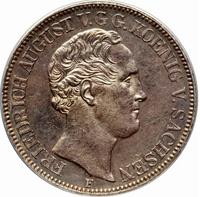 Саксония, талер 1850 г, Фридрих Август II