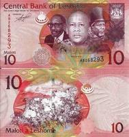 10 малоти (maloti), 2010 год, Королевство Лесото (Lesotho)
