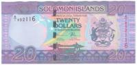 Соломоновы острова 20 долларов 2017 год