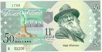 """Коллекционные банкноты США """"Штаты"""" 50 долларов, полимер"""