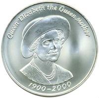 Тристан-да-Кунья 50 пенсов 2000 год, Елизавета Королева-Мать