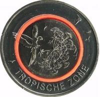 Тропическая зона - монета 5 евро с полимерным кольцом