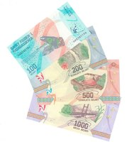 Набор банкнот Мадагаскара от 100 до 1000 ариари