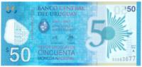 Уругвай 50 песо 2017 год (юбилейная, полимер)